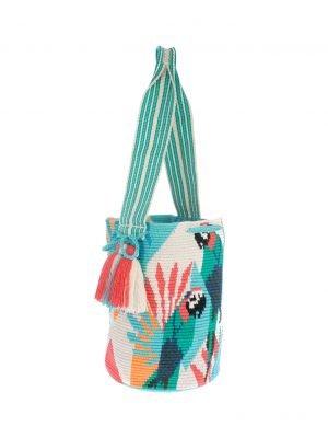 Arte y Tejido, Chorrera, Mochila, Tejida, Knitted, Crochet, Natural Fibers, Algodón, Cotton, Fibras Naturales, Bag, Bendi, Mochila Bendi